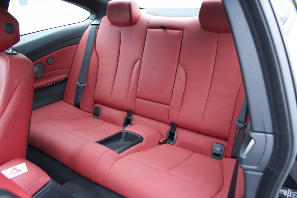 2014 BMW 435i xDrive coupe rear seats