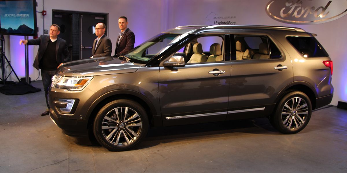 Luxury The Name Of The Game As The 2016 Ford Explorer