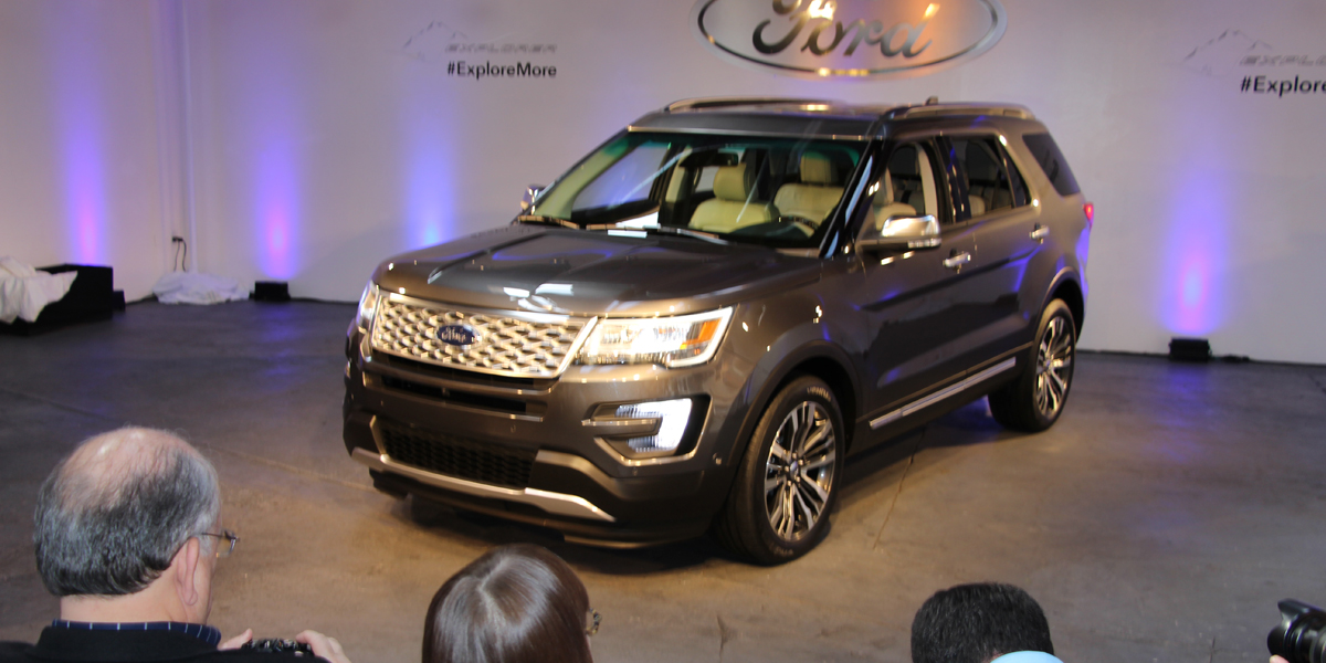 Luxury the name of the game as the 2016 Ford Explorer ...