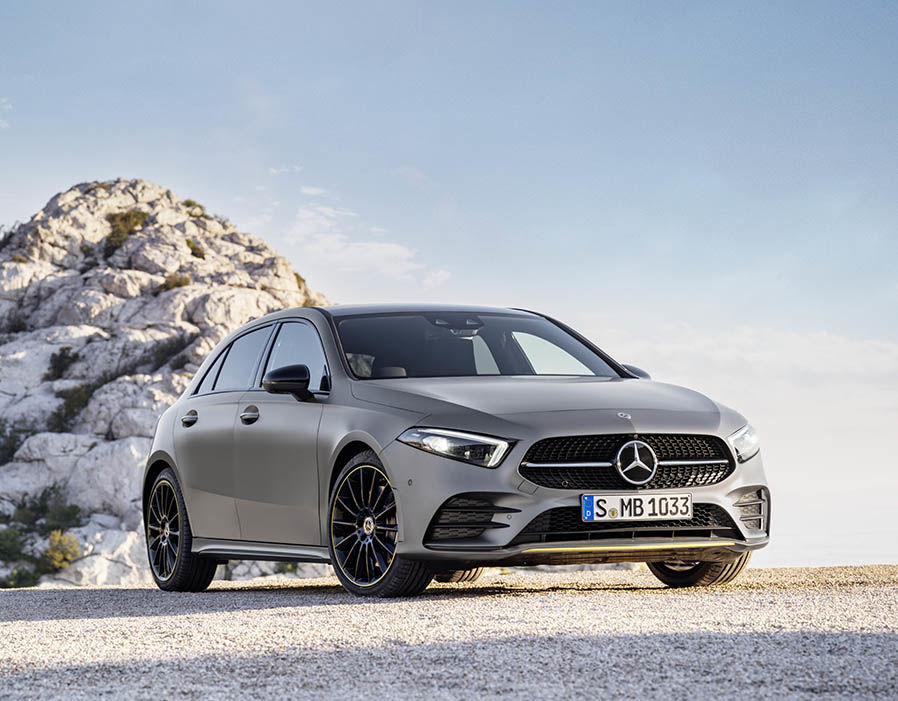 a small affordable mercedes benz presented in geneva