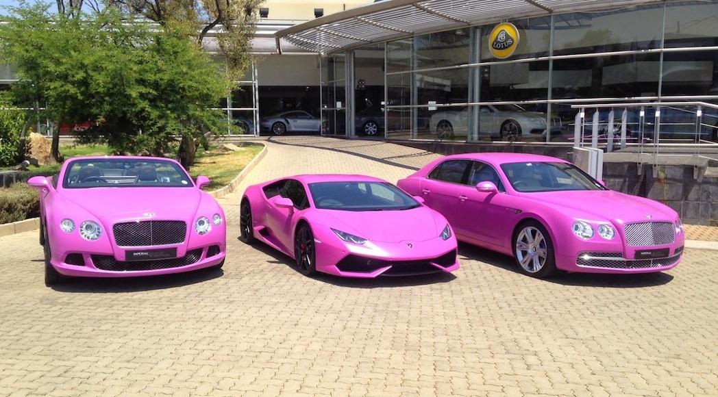 Lamborghini et Bentley à Imperial Collection de Johannesburg