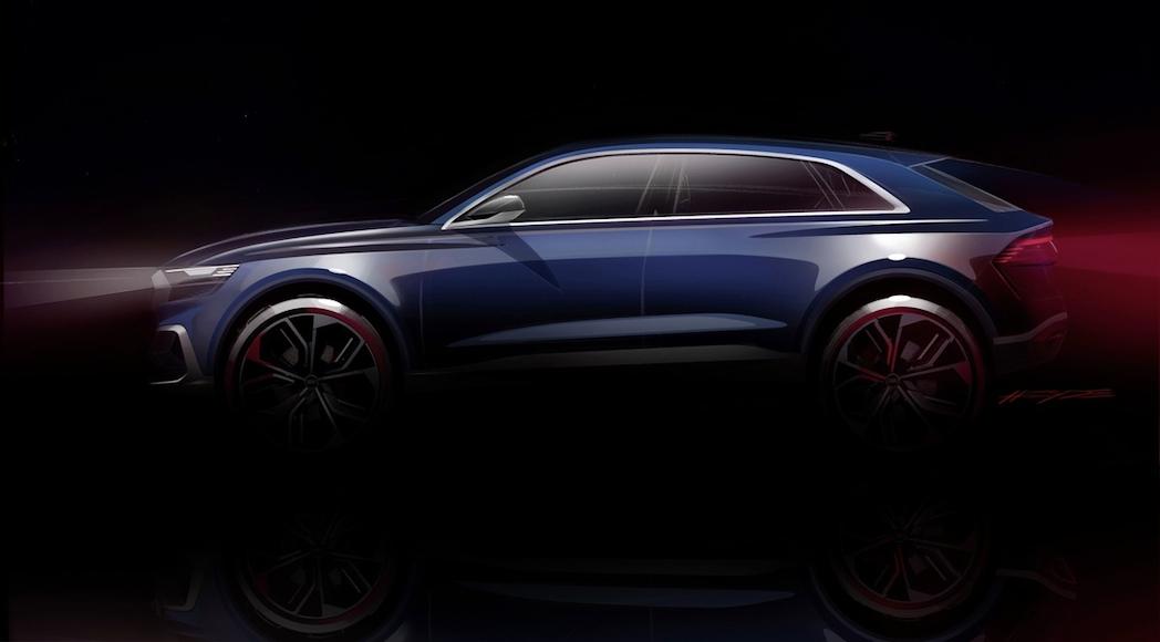 Esquisse de l'Audi Q8 Concept 2017