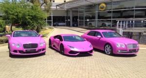 Lamborghini et Bentley de Johannesburg pour le cancer du sein