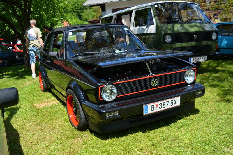 Volkswagen Golf Cabrio MK1 Noir-Rouge