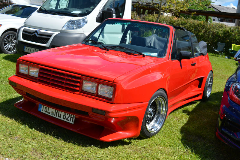 Volkswagen Golf Cabrio MK1 Rouge