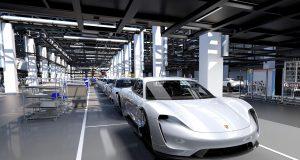 Une visite des installations de production de la Porsche Taycan